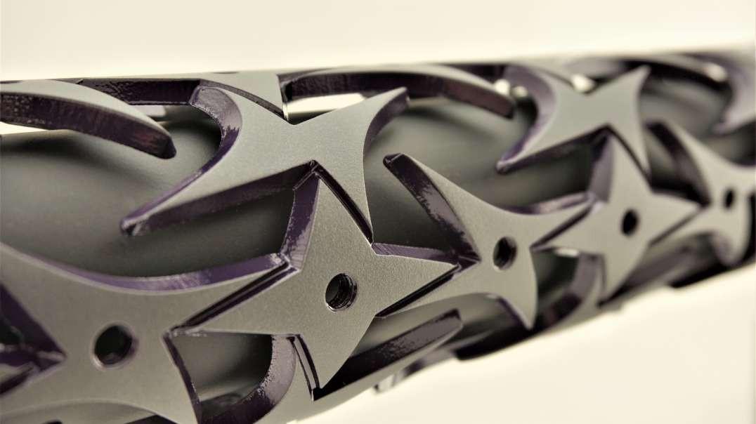 """Unique-ARs 12"""" Grey and Purple Razor"""