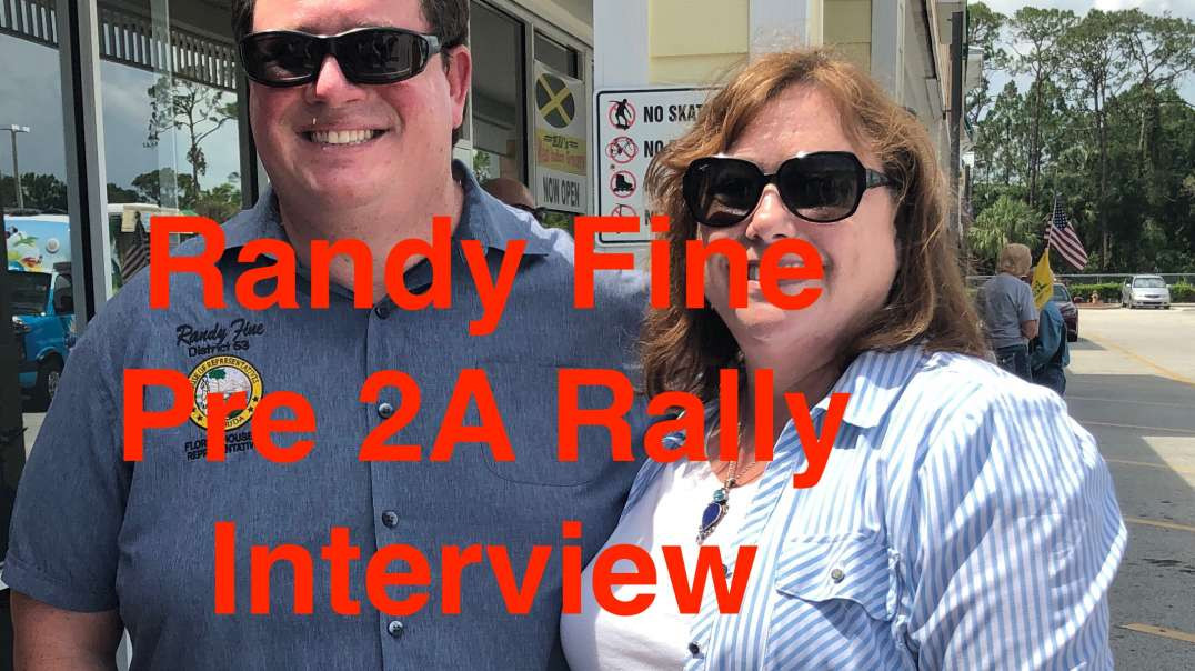 State Representative Randy Fine Interview at Rally - Supporting the Second Amendment in FL.