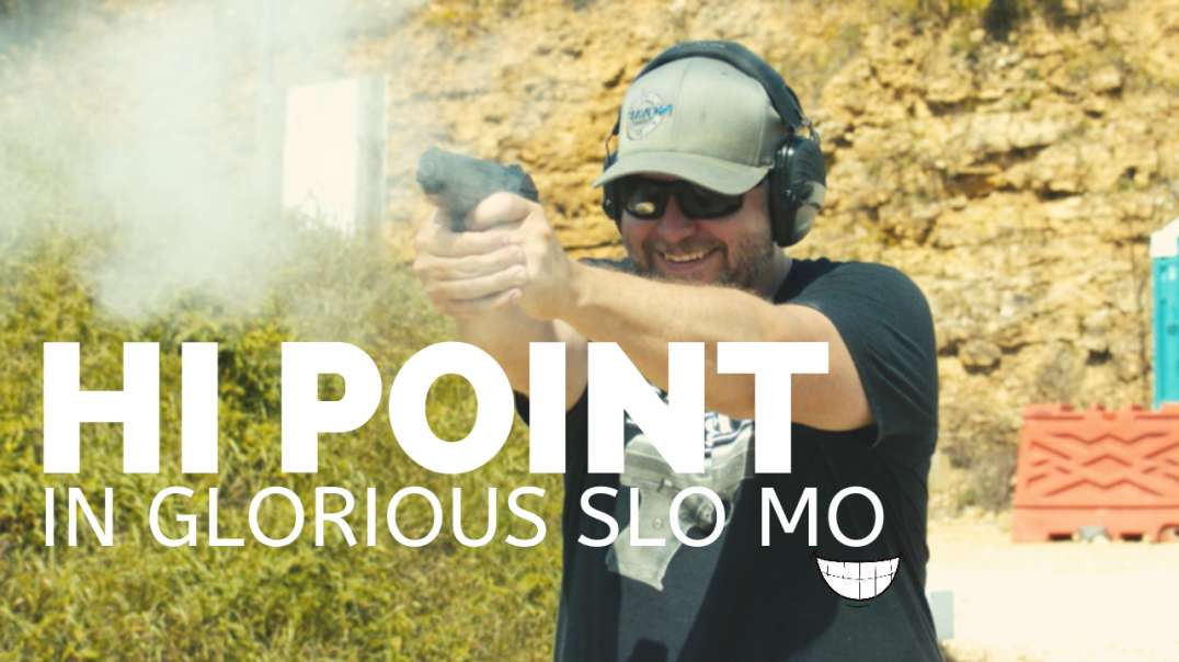 Hi-Point in slow motion - Never looked sexier!
