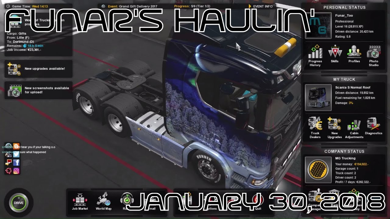 Funar is Haulin' Holiday Gifts   ETS2   Special Transport (2017-12-30)