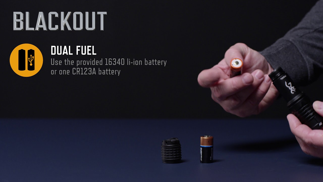 Blackout 3V USB Rechargeable Flashlight