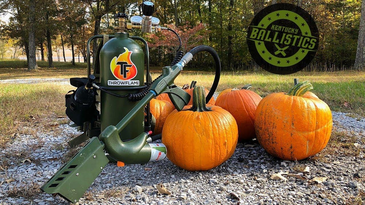 Flamethrower vs Pumpkins