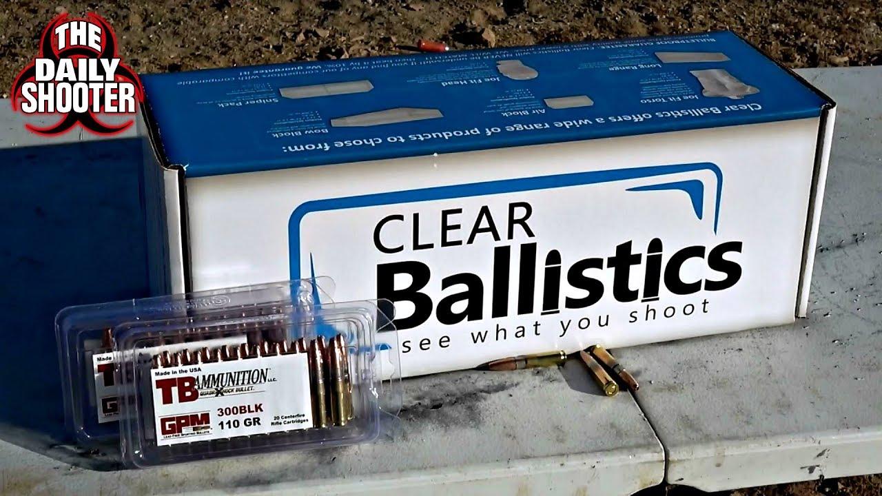 TB Ammunition 110gr 300 Blackout Ballistics Gel Test