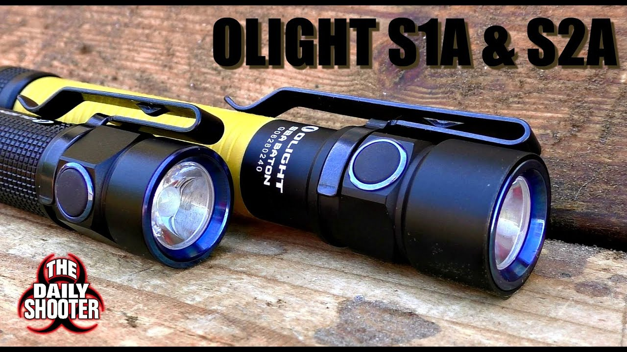 Olight S1A and S2A Baton Flashlight Review