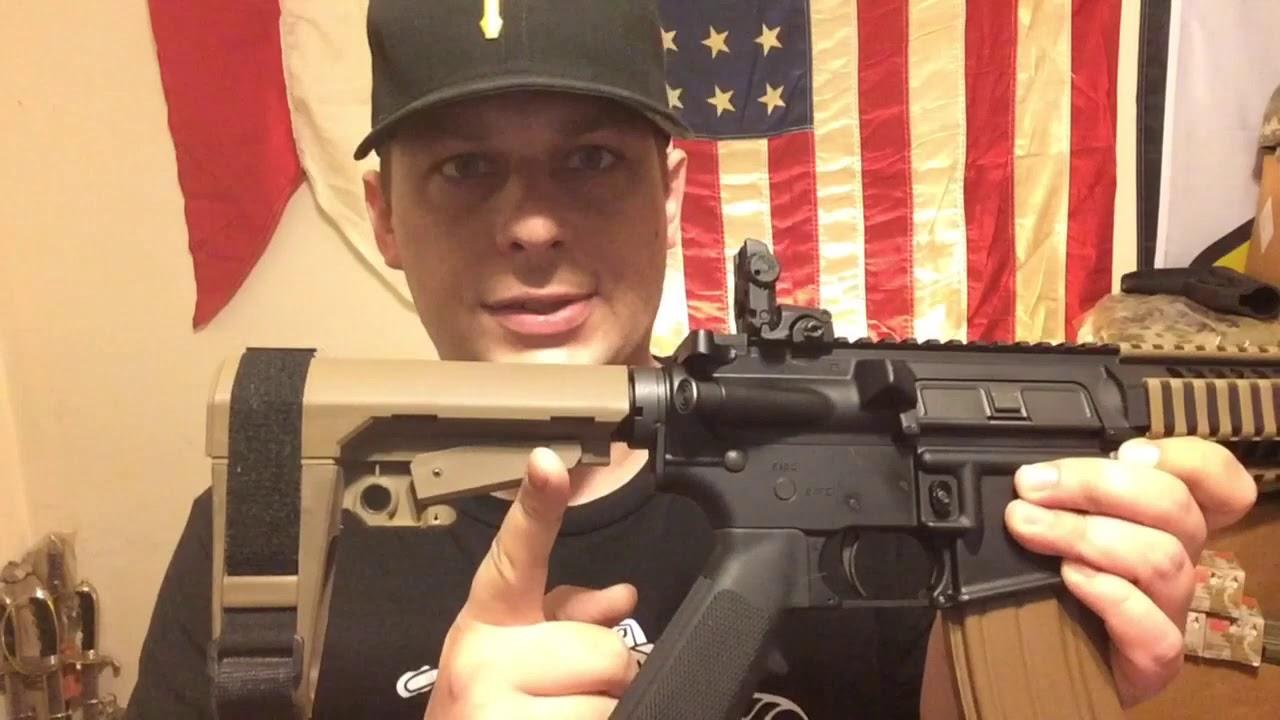 SB Tactical SBA3 Pistol Brace FDE | Colt LE6945CQB MK18 AR pistol project