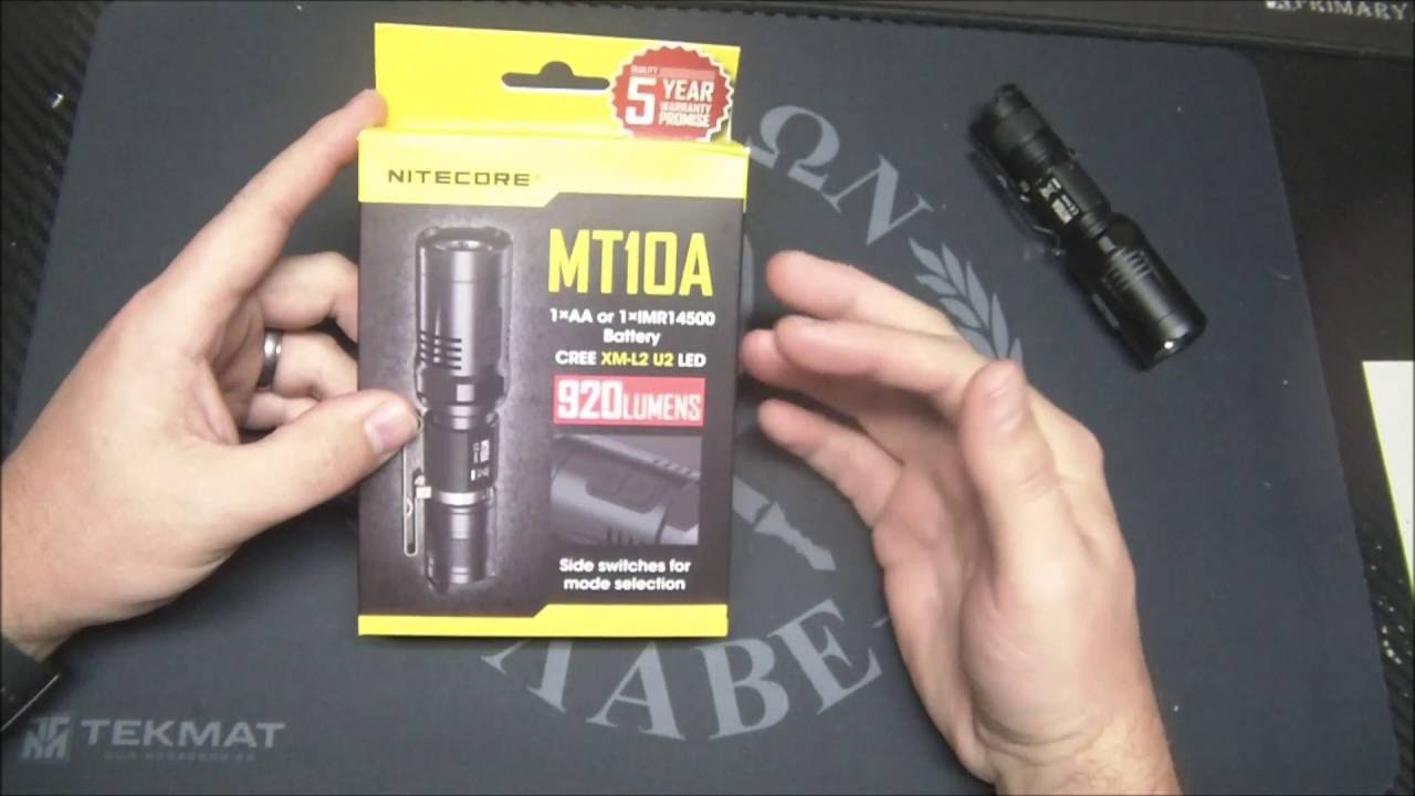 Nitecore Mt10A Flashlight Review-920 Lumens AA Size!