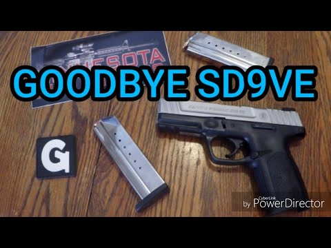 GOODBYE Smith & Wesson SD9VE