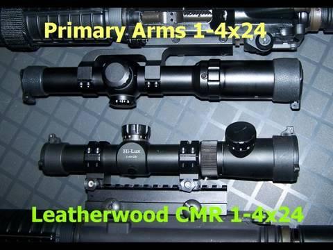 Leatherwood CMR vs Primary Arms 1-4x24 Illuminated Reticle Scopes