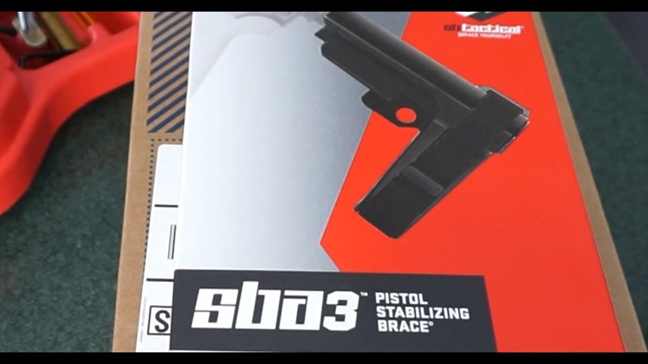 SB Tactical SBA3 support brace unboxing and general overview.