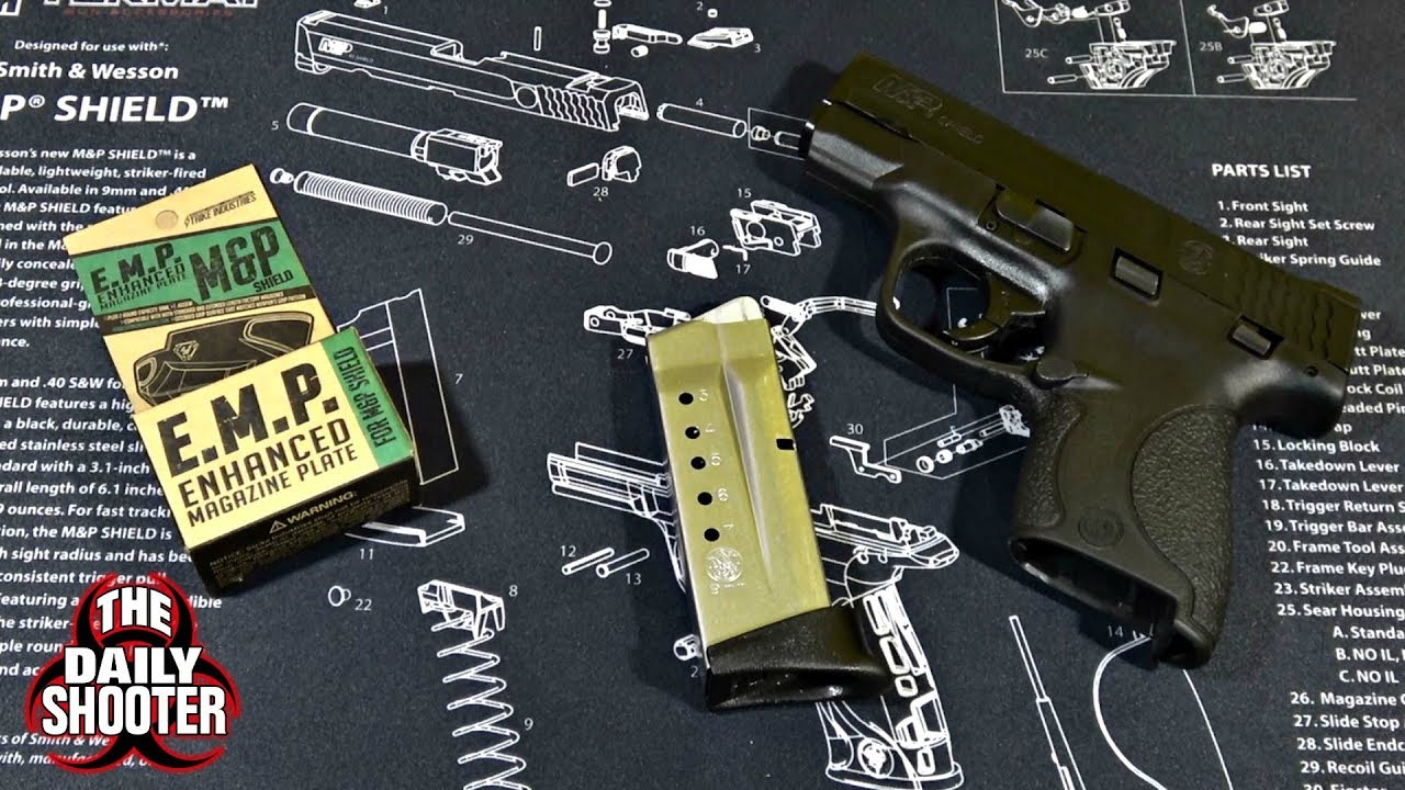 Strike Industries EMP for S&W Shield 9mm +2 Base Plate