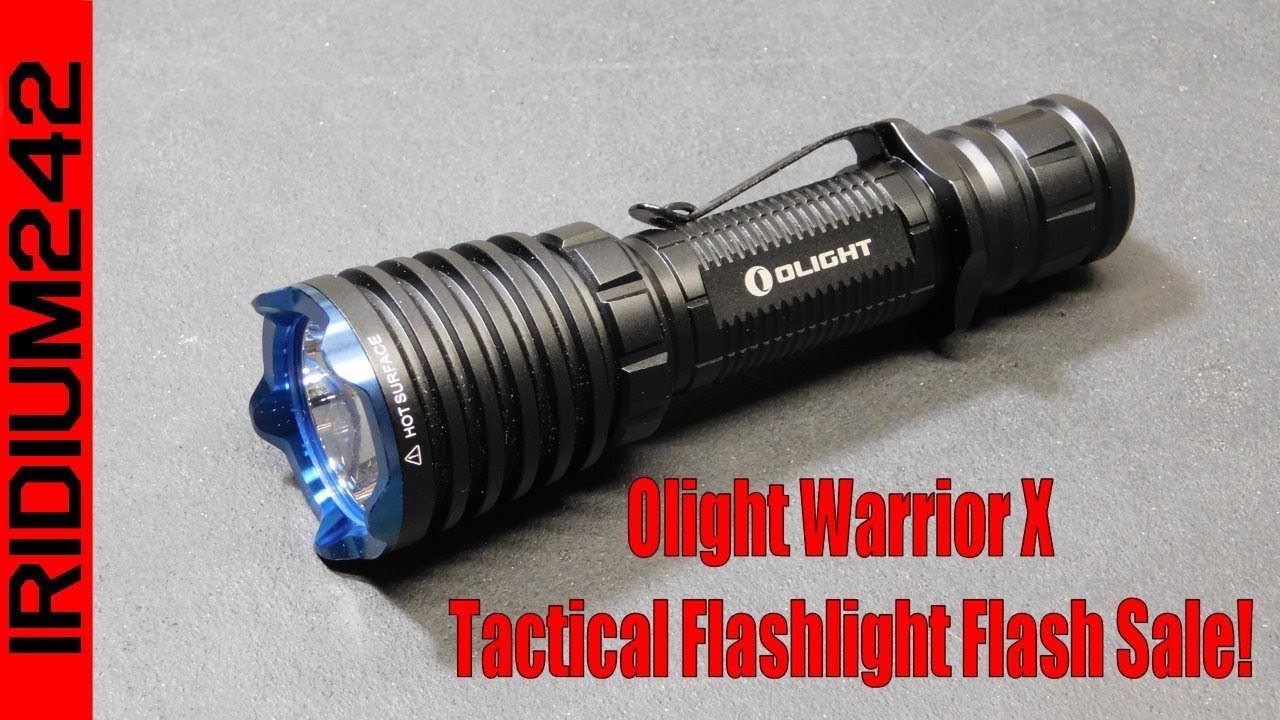 Olight Warrior X - Tactical Flashlight Flash Sale!