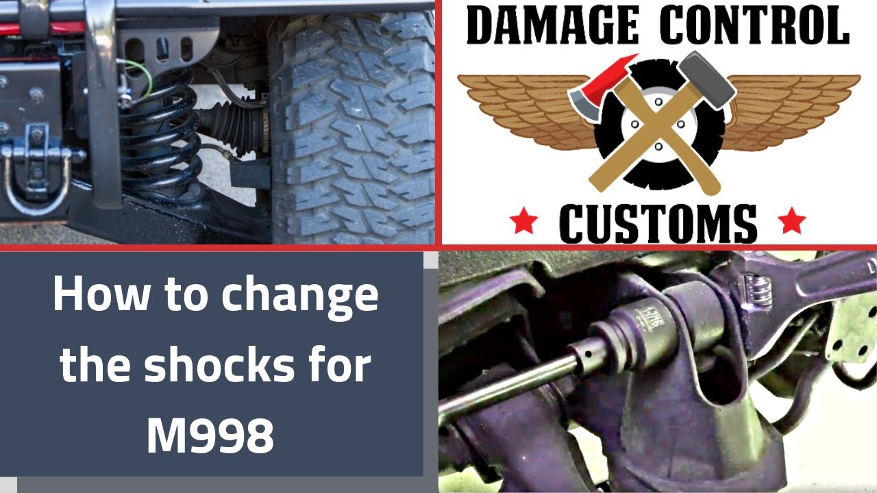 How To Changing the shocks for the HMMWV HUMVEE M998 Hummer