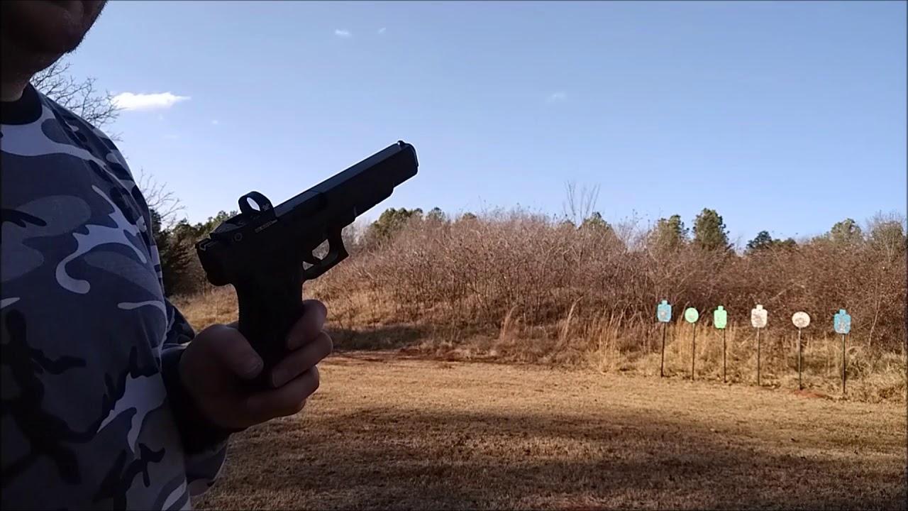 Glock 40 w/Vortex Venom shooting!