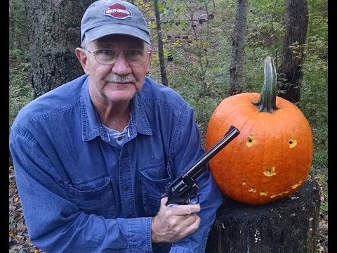 Pumpkin Carving with a .44 Magnum S&W