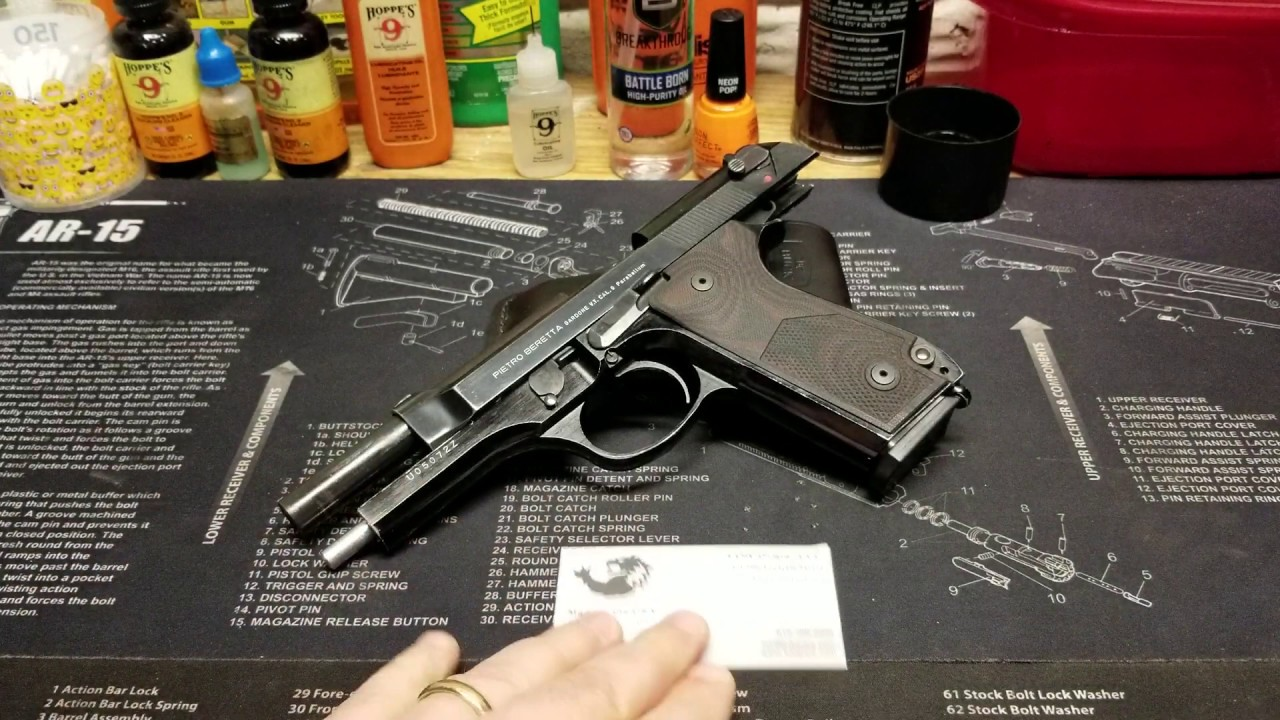 Beretta 92S is complete with new LOKGRIPS