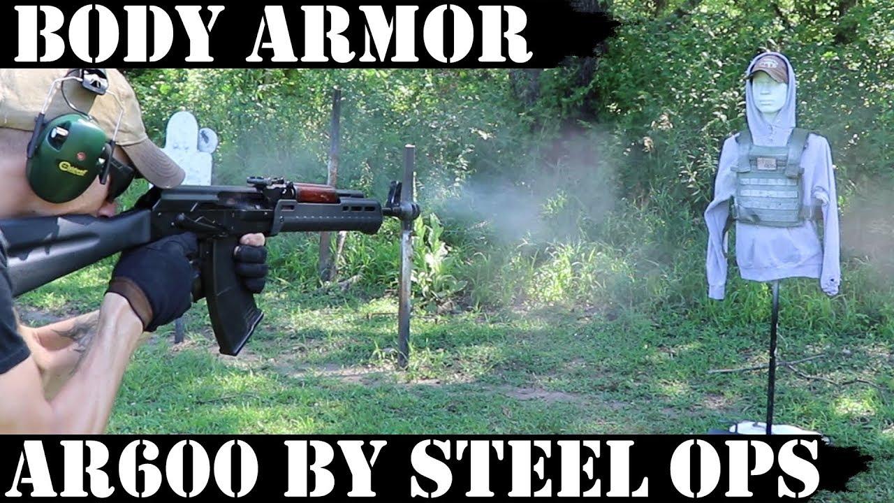SteelOps AR600 Body Armor Plates Test!