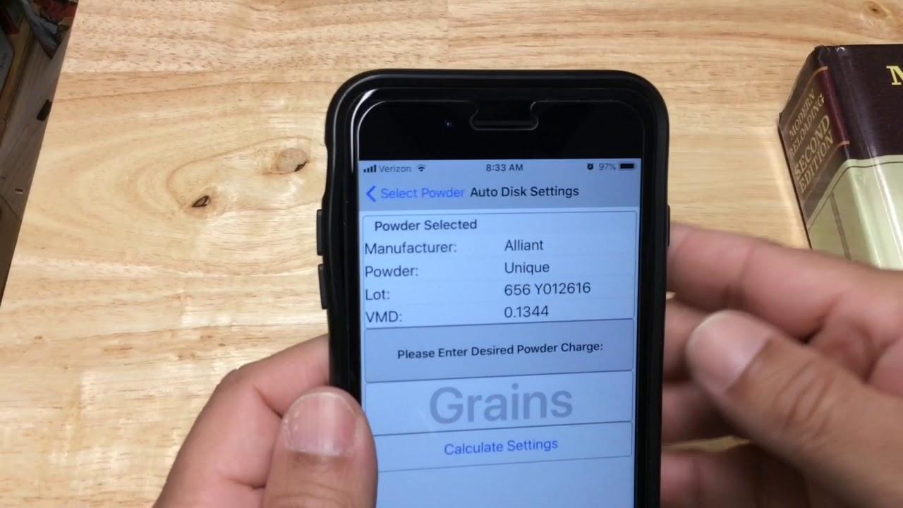 Reloader VMD app and finding your powder VMD