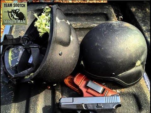 Shooting Kevlar Helmets Level IIIA