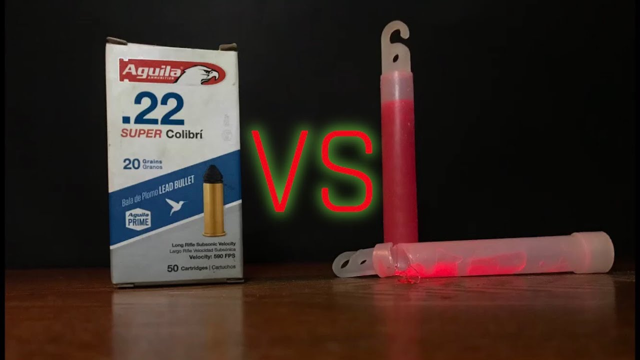 .22 LR vs. Glow Sticks