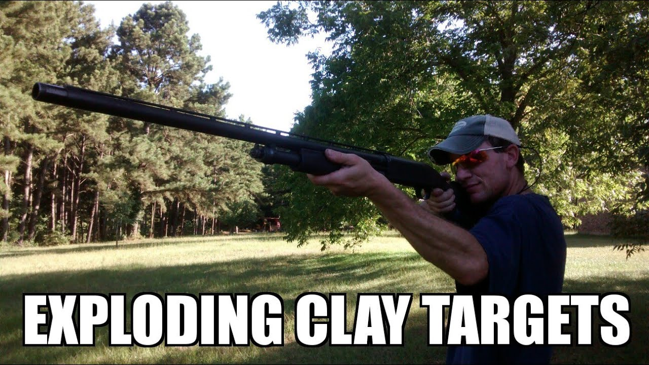 Exploding clay targets