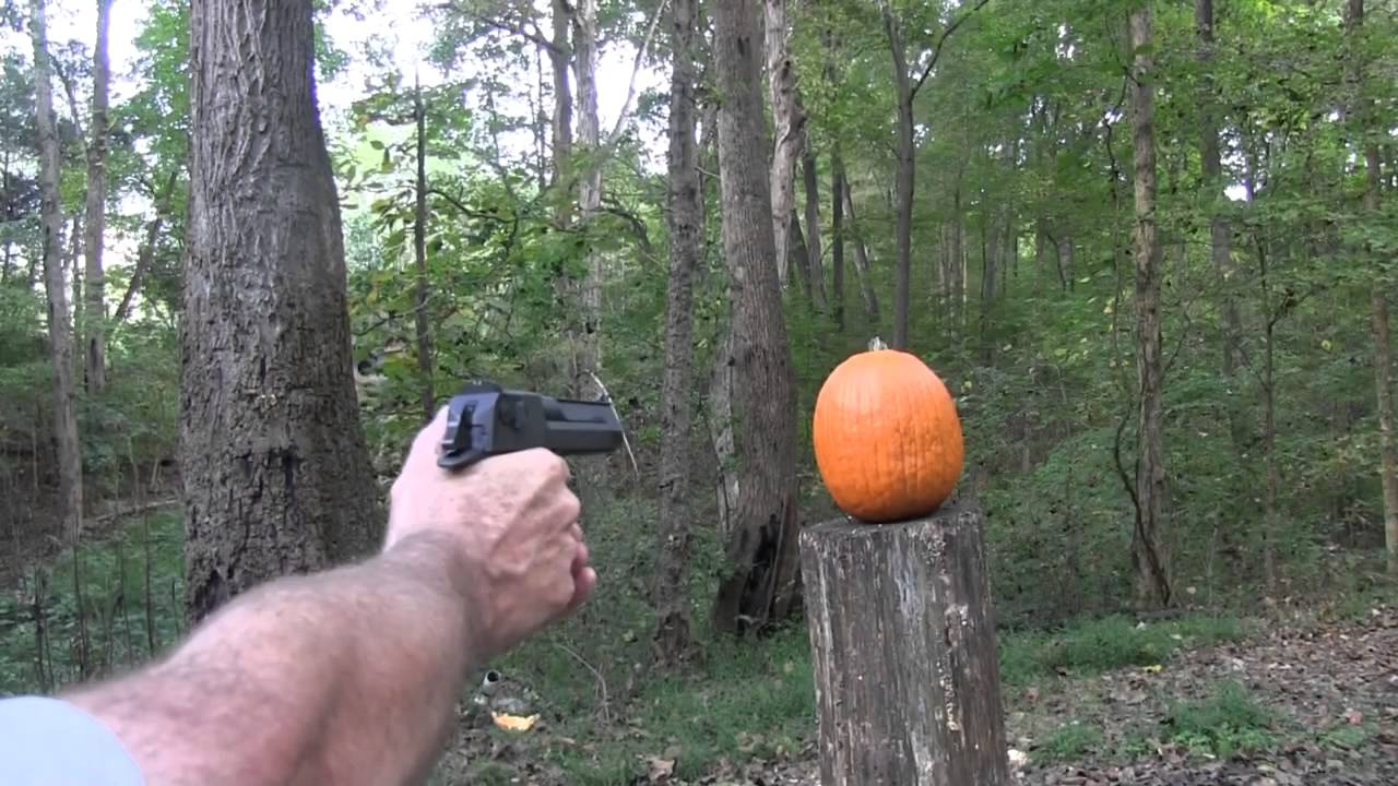 Pumpkin Carving With a Desert Eagle