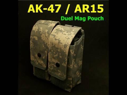 AK-47 /  AR-15  M4 Dual Molle Magazine Pouch