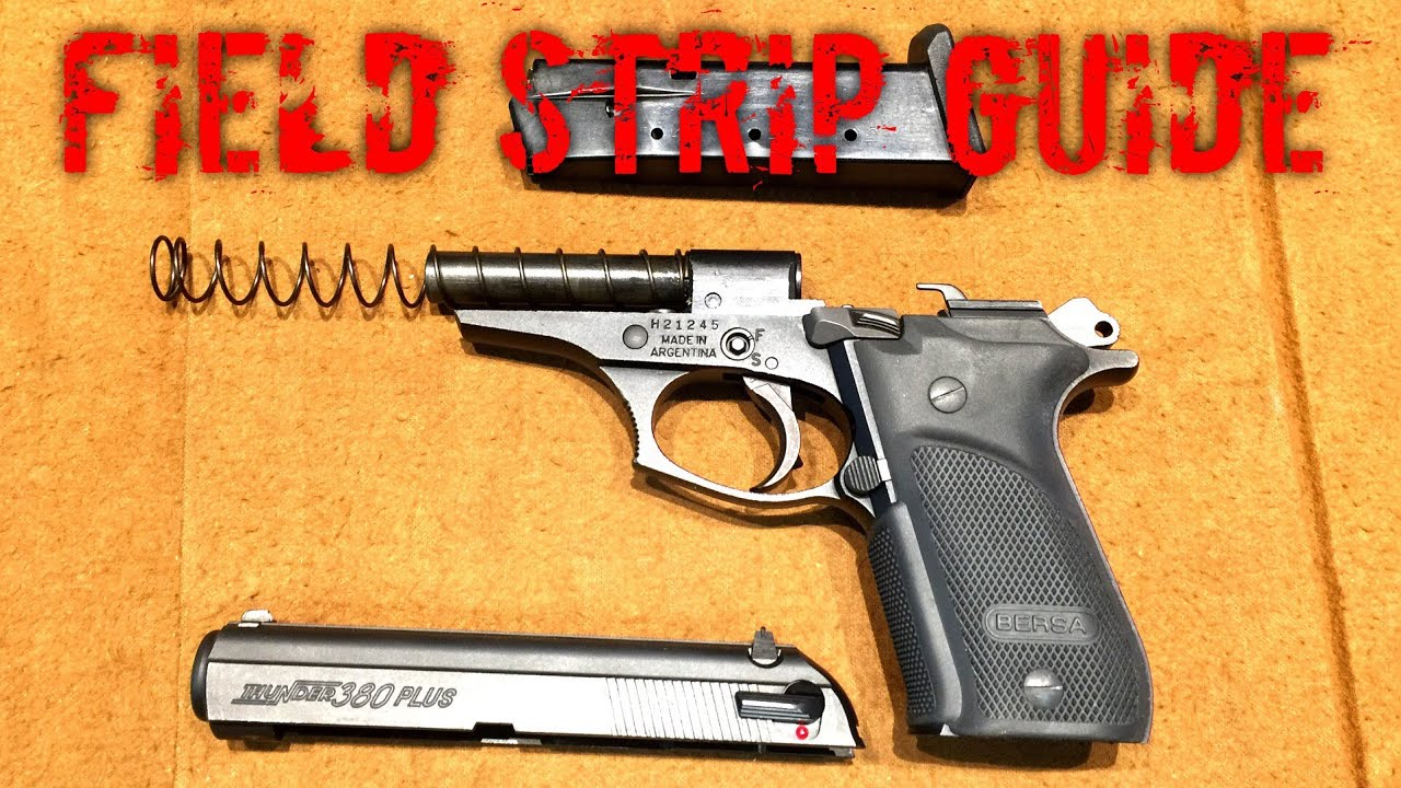 How To Disassemble Your Bersa Thunder Plus
