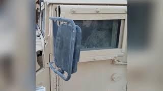 [.50 cal] machine gun, patrol Iraq 2018