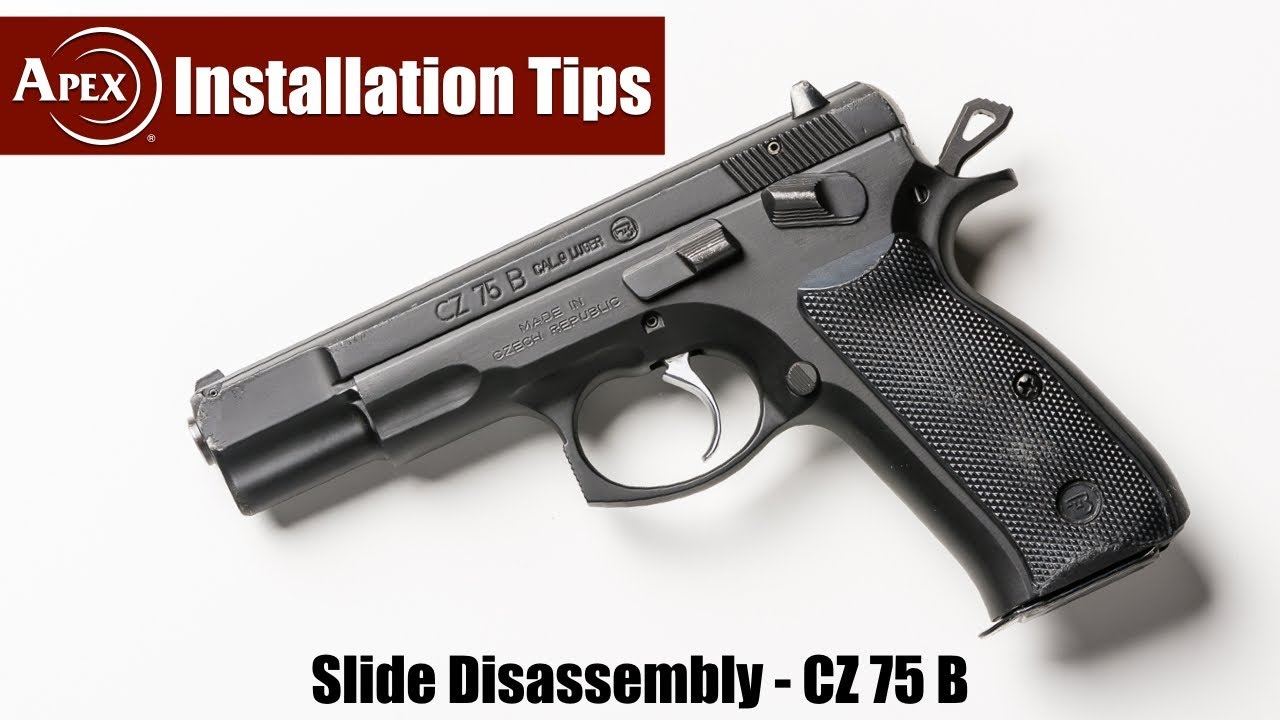 How To Disassemble The CZ 75 B Slide