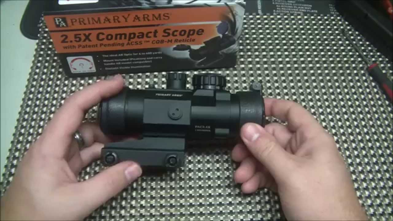 Primary Arms 2.5x ACSS Scope Overview