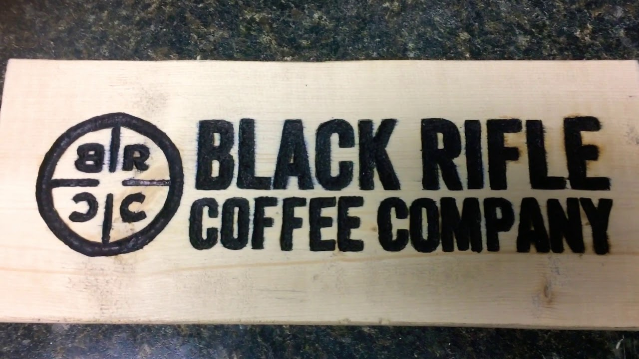 Black Rifle Coffee Company ☕️ sign project part 2. After sanding