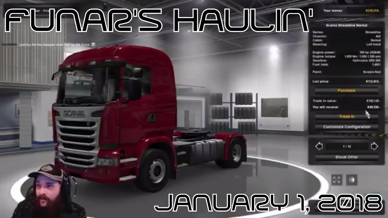 Funar is Happy New Year Haulin'   ETS2   Holiday Gift Deliveries (2018-01-01)