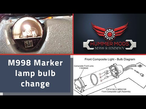 M998 HMMWV Marker Lamp bulb Change, 303 Miniature change   Blinkers and Blackout