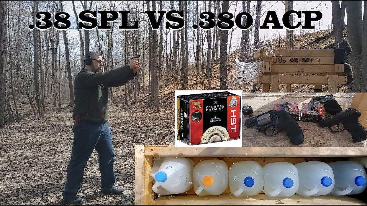 .38 SPL VS .380 ACP in Pocket Guns Season 2- Ep 1. Federal HST