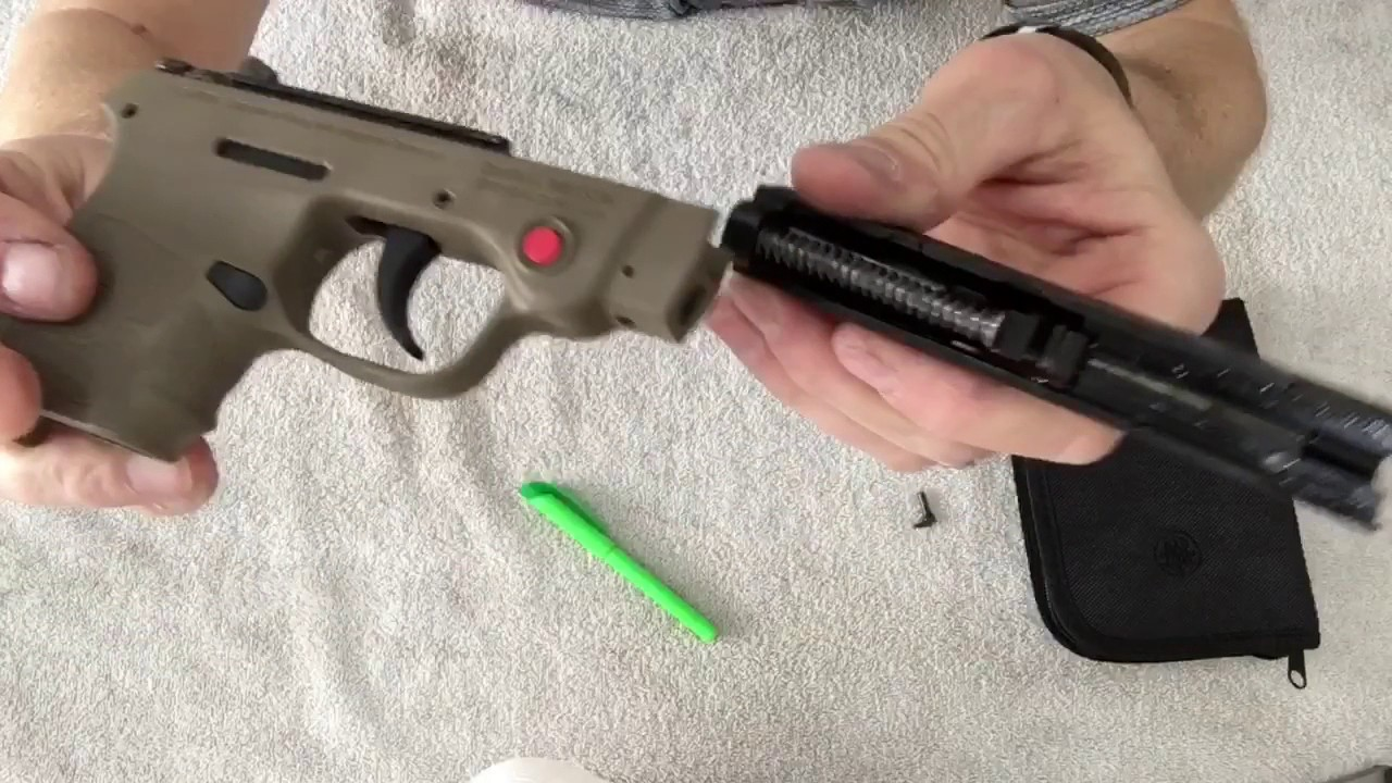 Smith & Wesson Bodyguard 380 Disassemble and cleaned