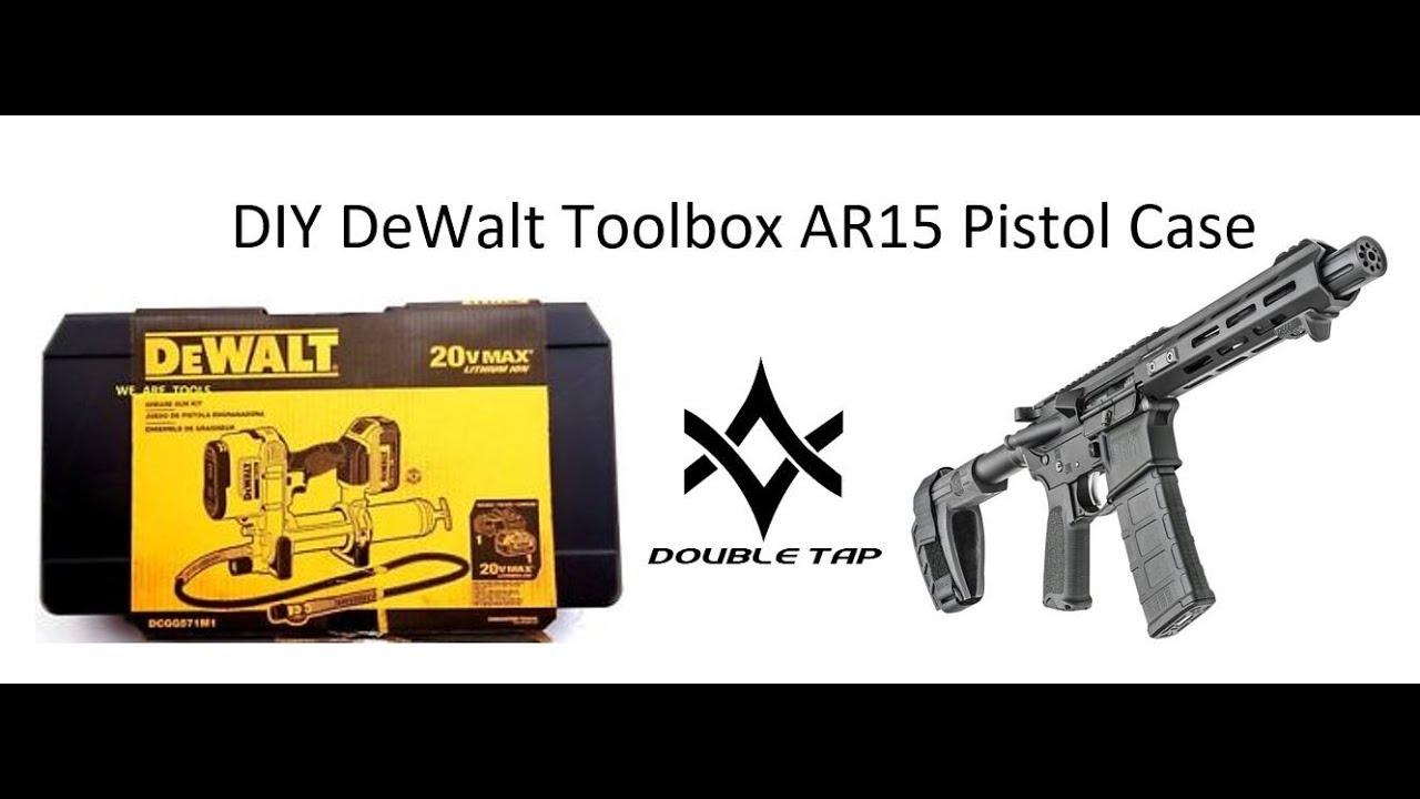DIY DeWalt 20v Max Grease Gun Toolbox Mk18 AR15 Pistol Case
