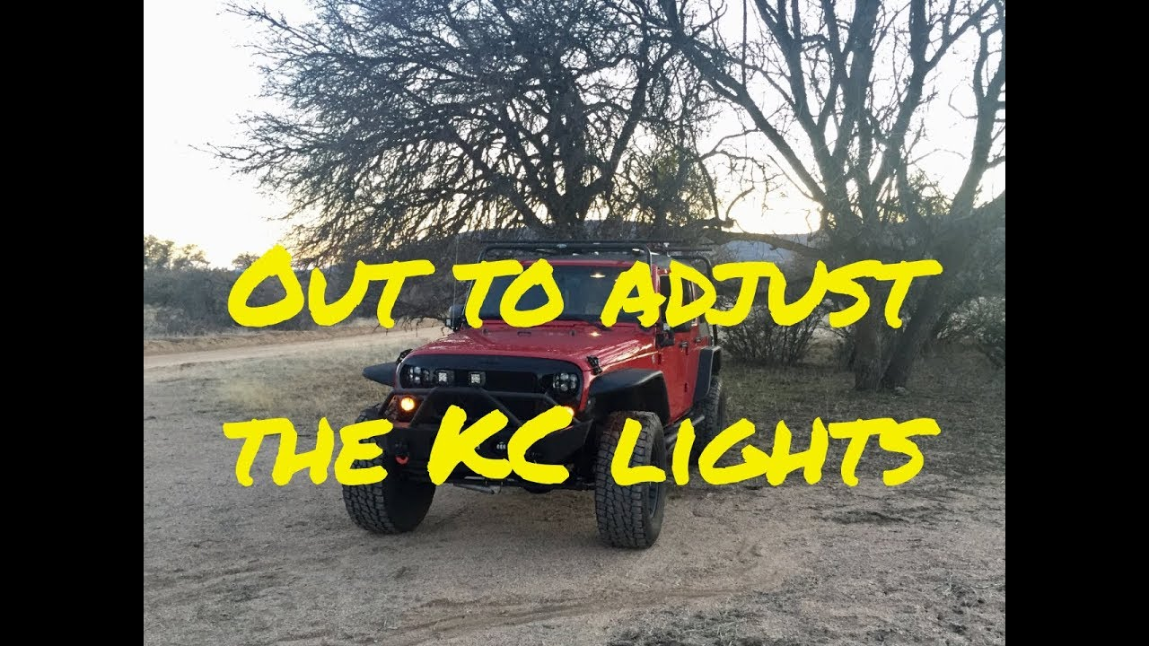 🔴Adjusting the KC LED Lights on the Littlewierdjeep