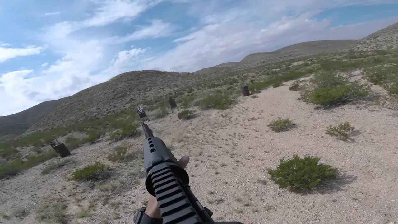 Rifle to pistol transition