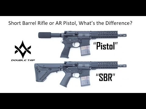 SBR or AR15 Pistol What's the Difference?