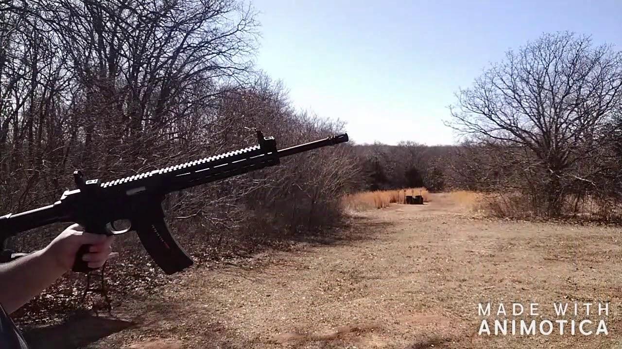M&P S&W 15-22 AR range session