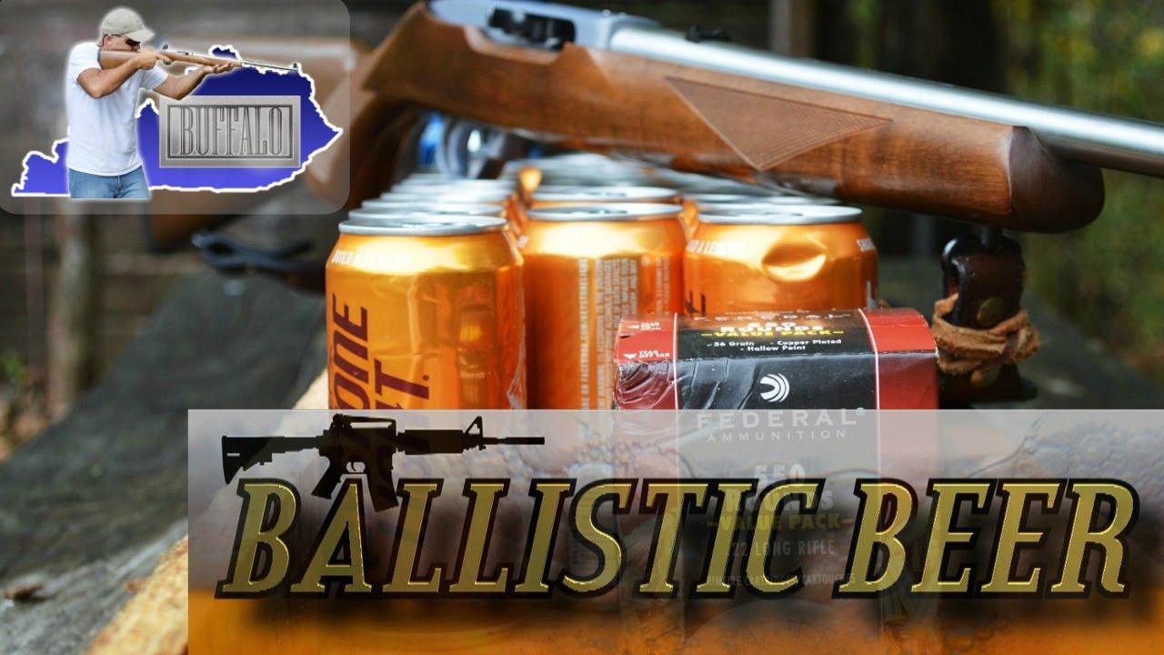 Beer Ballistics #2 .22LR hollow point