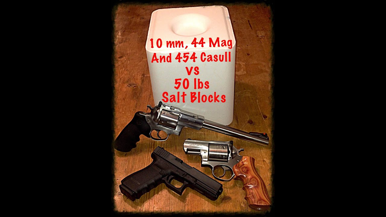 454 Casull, 44 Magnum and 10mm vs Tile