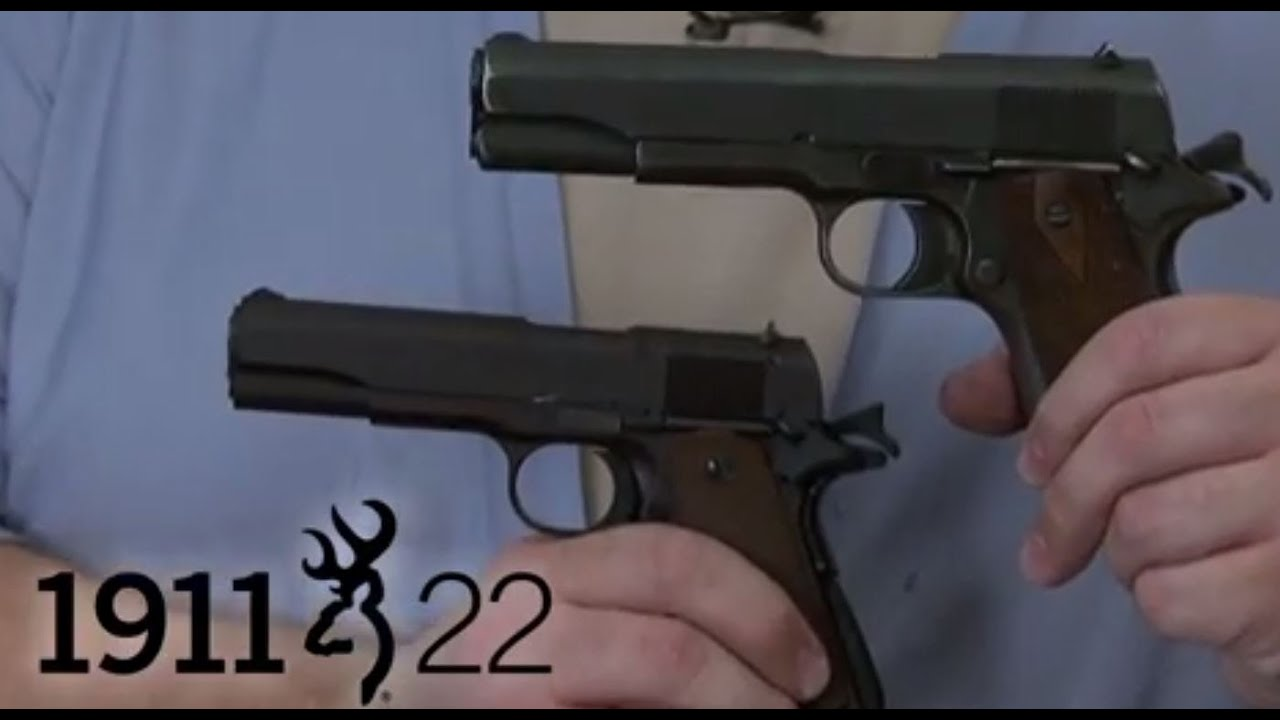 1911-22. A visual comparison with the original -- Browning 1:45 HD