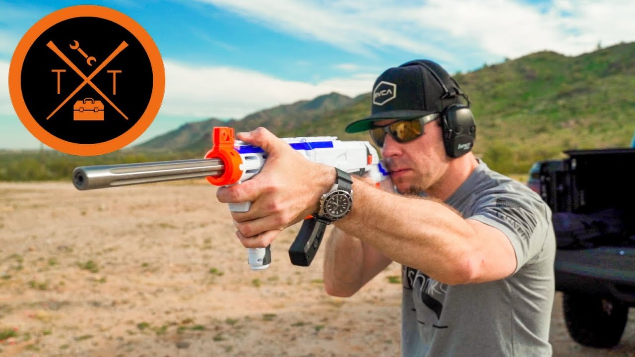 CRAZY NERF GUN Shoots REAL Bullets // Part 2??