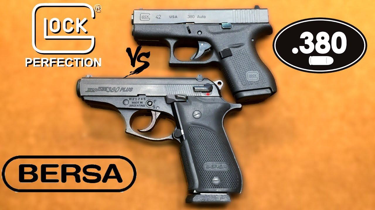 Glock 42 VS Bersa Thunder Plus
