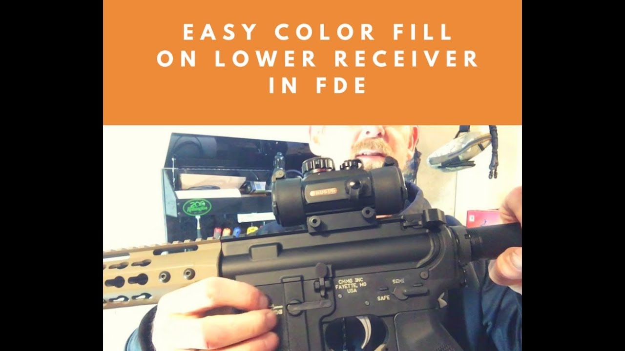 How to color your lower receiver engraving in FDE (quick and easy)