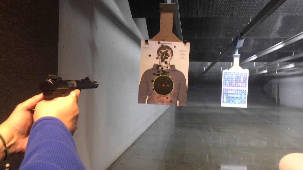 Mary shoots the Ruger Mark III 22/45