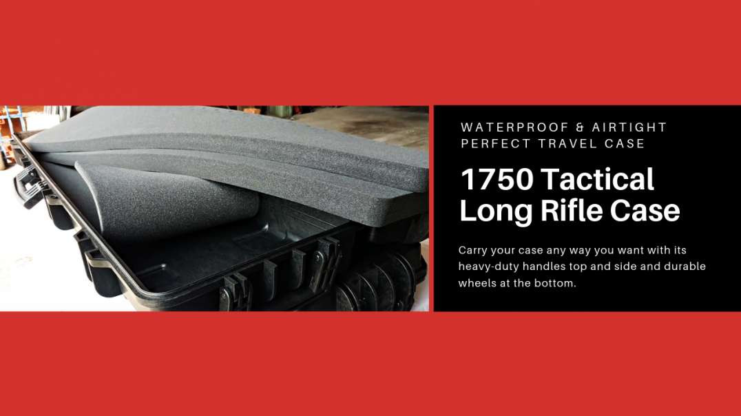 Waterproof & Airtight 1750 Tactical Long Rifle Case with Pick and Pluck foam - A Perfect Travel Case