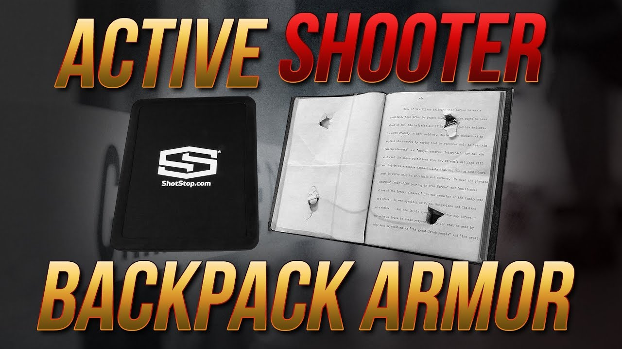 Active Shooter Backpack Armor: Can M855A1 Defeat Plastic Armor ~AND~ A Book?
