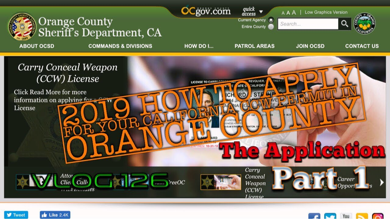 2019 How to Apply for your California CCW Permit In Orange County - Part 1 (Application)  - Vlog 126